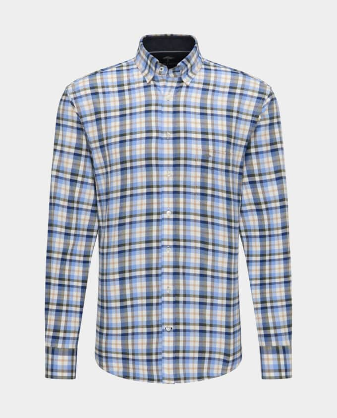 Chemise Bleue en Flanelle Fynch-Hatton Recto