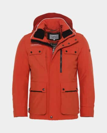 Manteau avec Capuche Orange Camel Active Recto