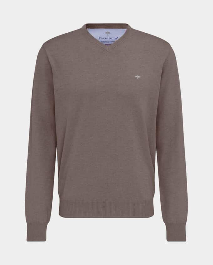 Pull Col V Taupe Fynch-Hatton Recto