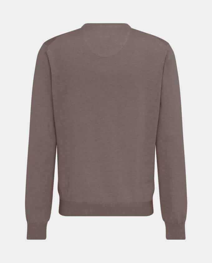 Pull Col V Taupe Fynch-Hatton Verso